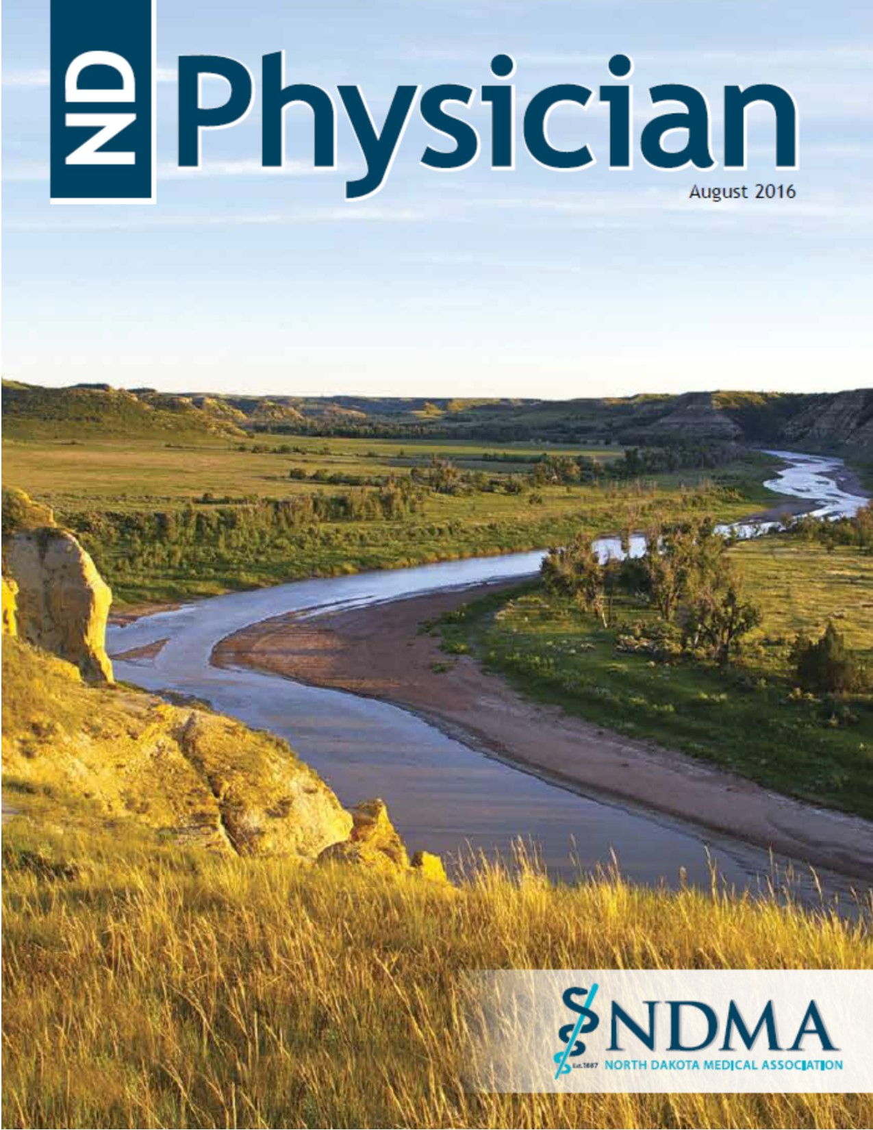 ND Physician August 2016 magazine cover