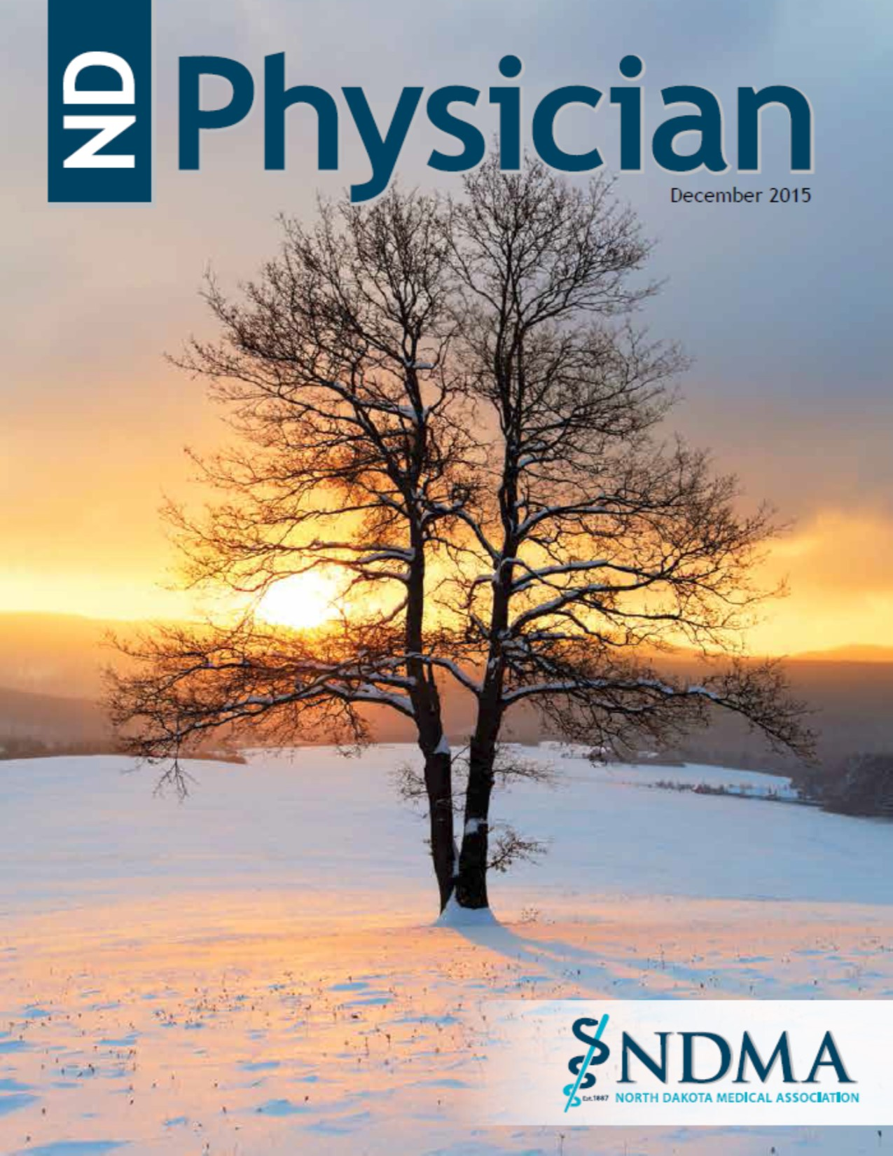ND Physician December 2015 magazine cover