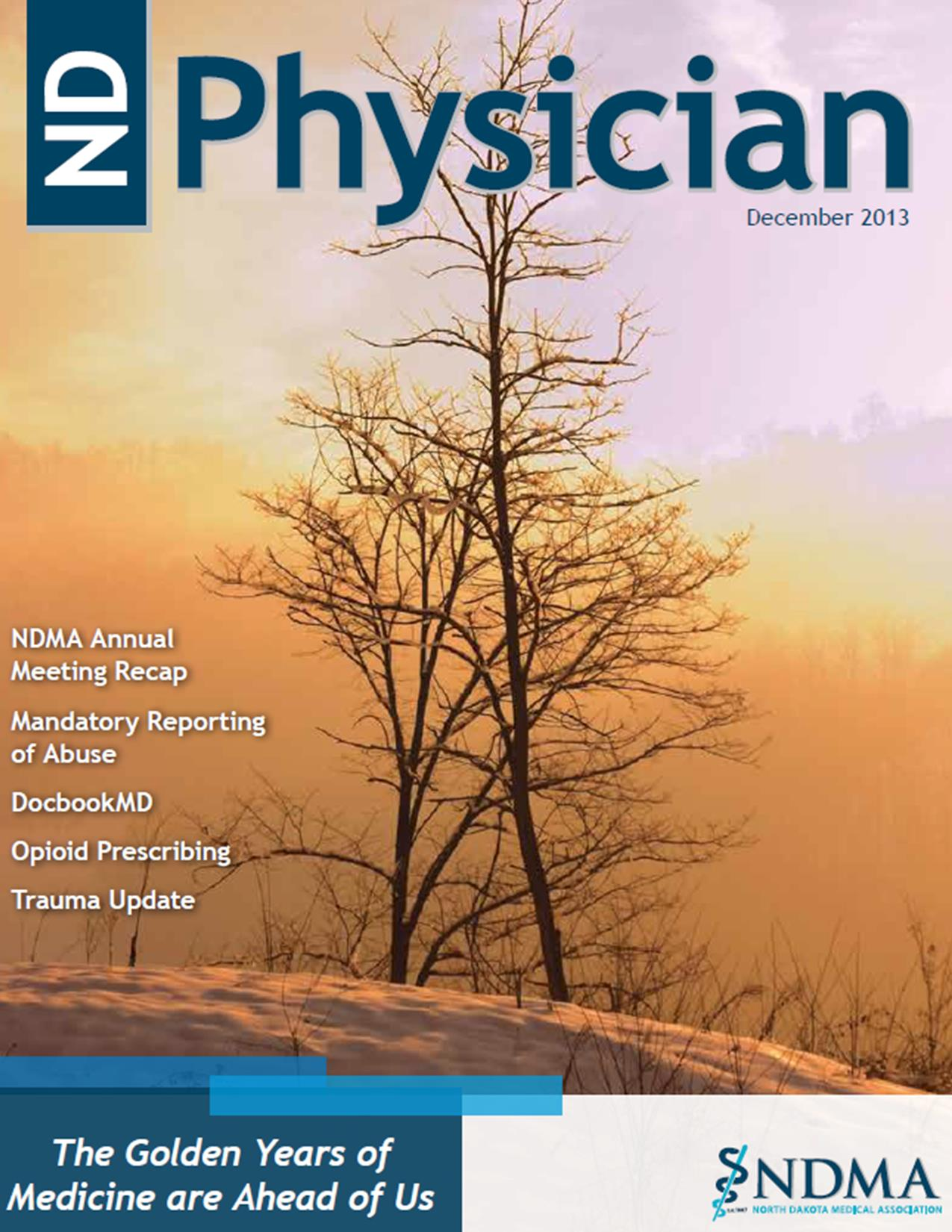 ND Physician December 2013 magazine cover