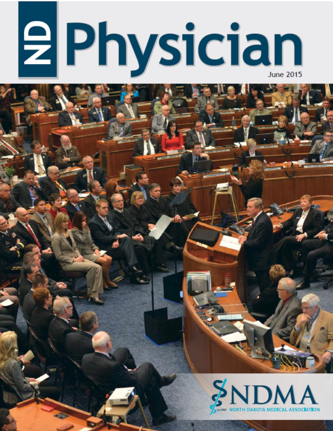 ND Physician June 2015 magazine cover