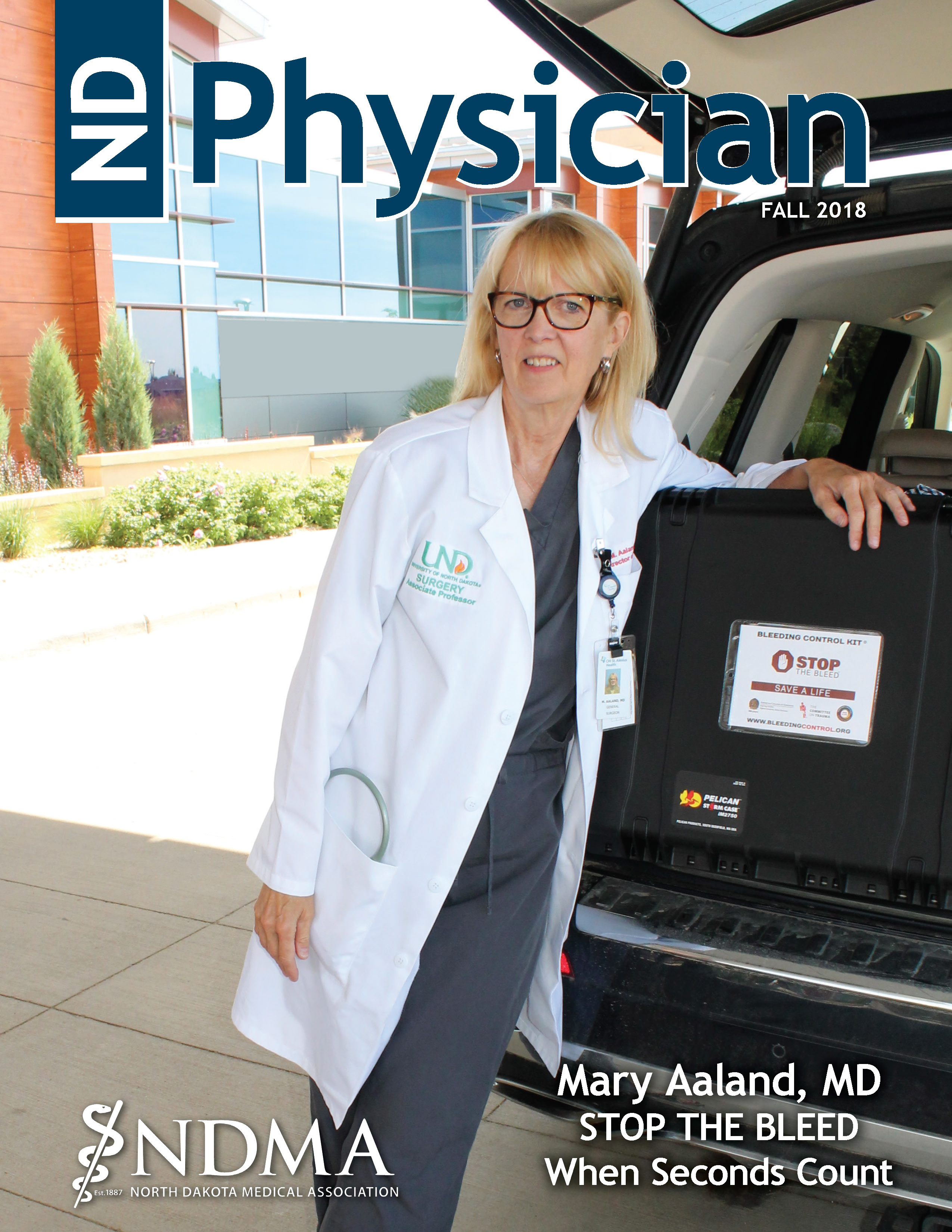 ND Physician Fall 2018 magazine cover