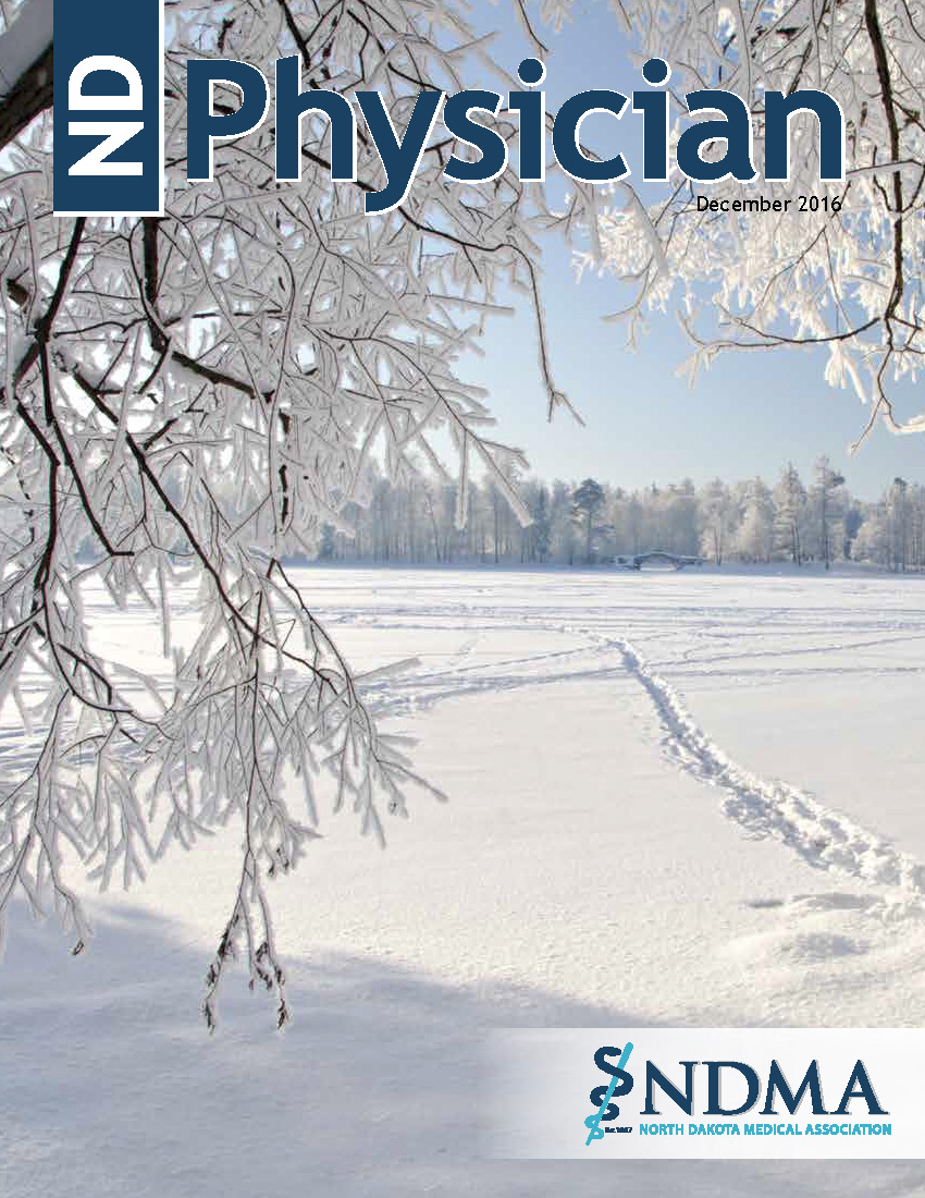 ND Physician December 2016 magazine cover