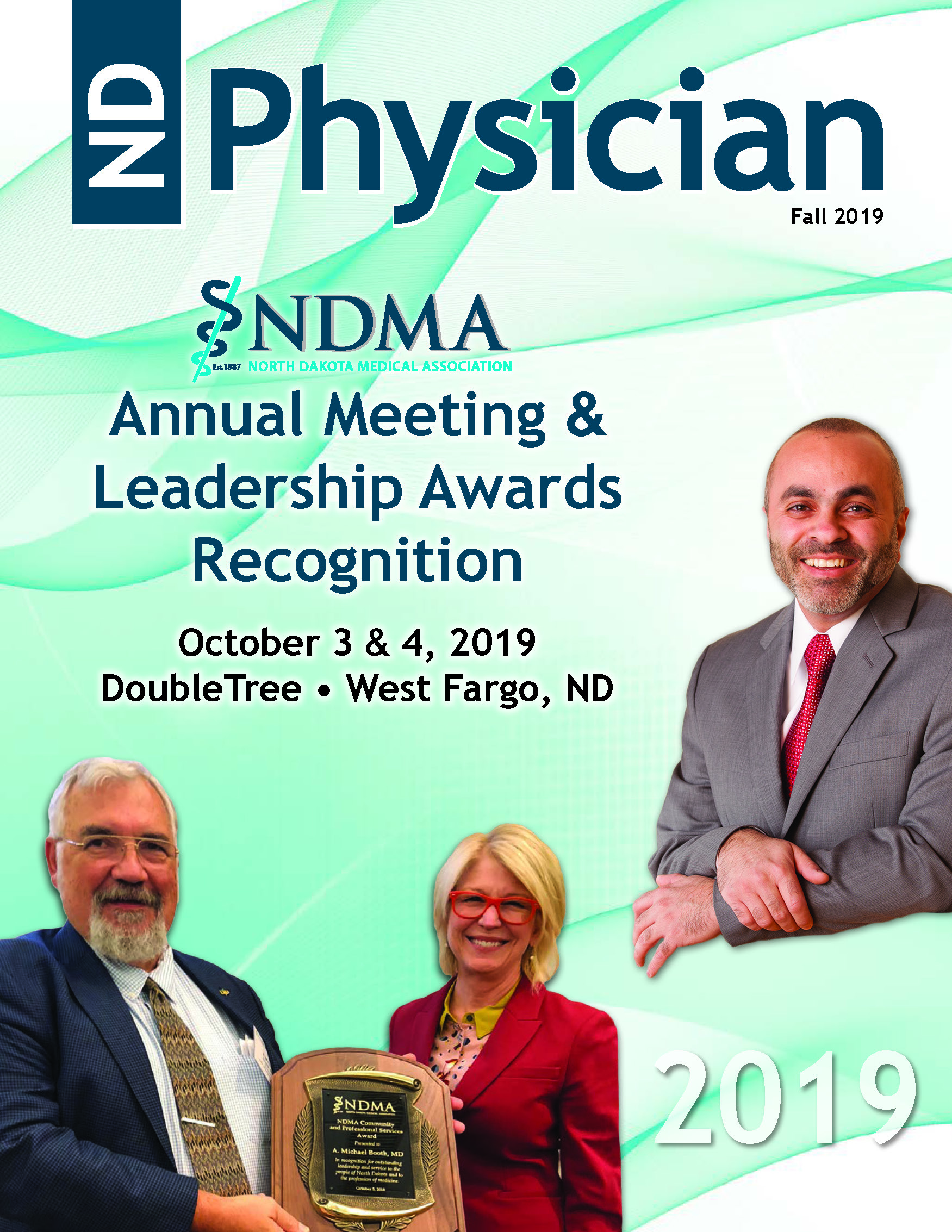 ND Physician Fall 2019 - Annual Meeting Edition magazine cover